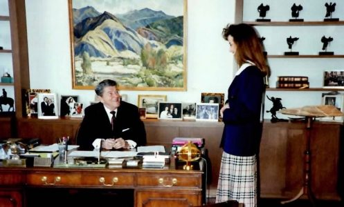 Peggy Grande and Ronald Reagan